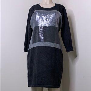 Calvin Klein size XL gray  sweater dress
